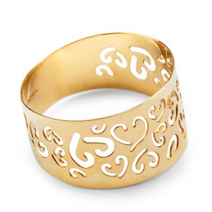 Pierścionek ażurowy ze złota