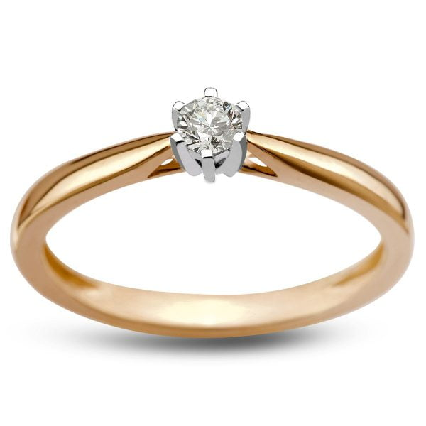 Pierścionek zaręczynowy ze złota