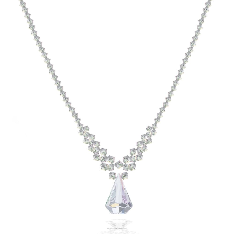 Naszyjnik z kryształami Swarovskiego
