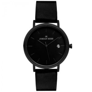 Zegarek męski z czarną tarczą