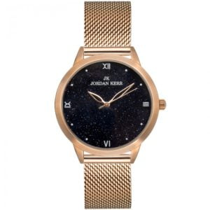 Zegarek damski na stalowej bransolecie w kolorze różowego złota